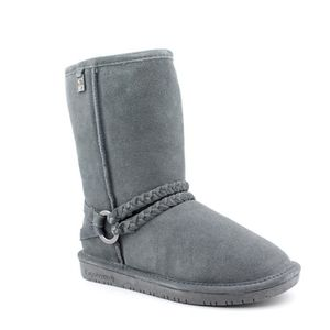 Bearpaw Adele Suede Genuine Shearling Lined Boots